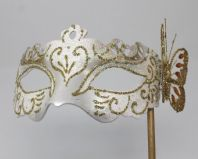 White and Gold Butterfly Mask
